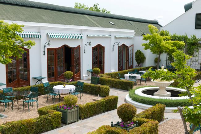 Lanzerac Hotel restaurant