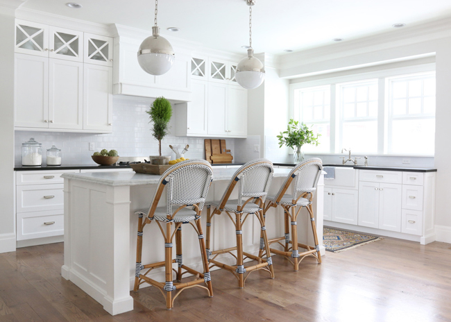 Gorgeous kitchen with Bistro chairs