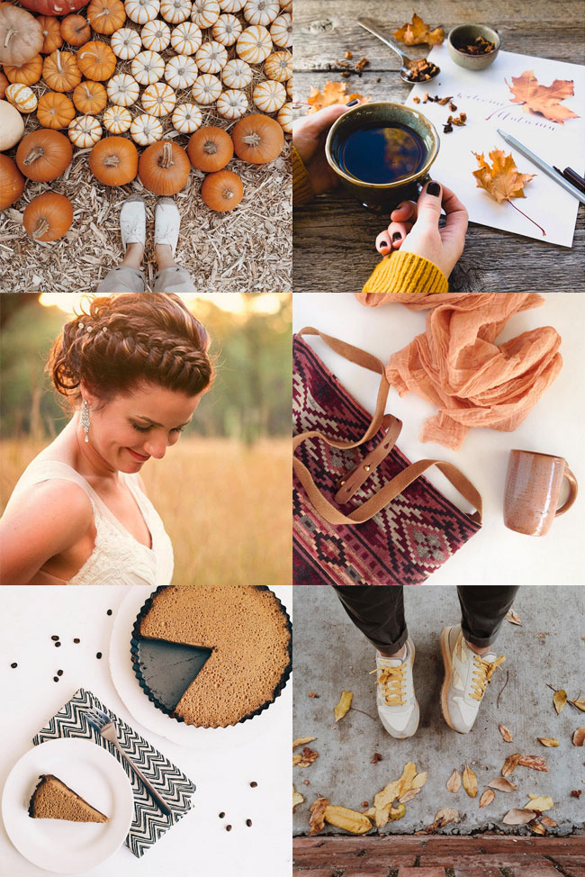 Pumpkin and mustard accents