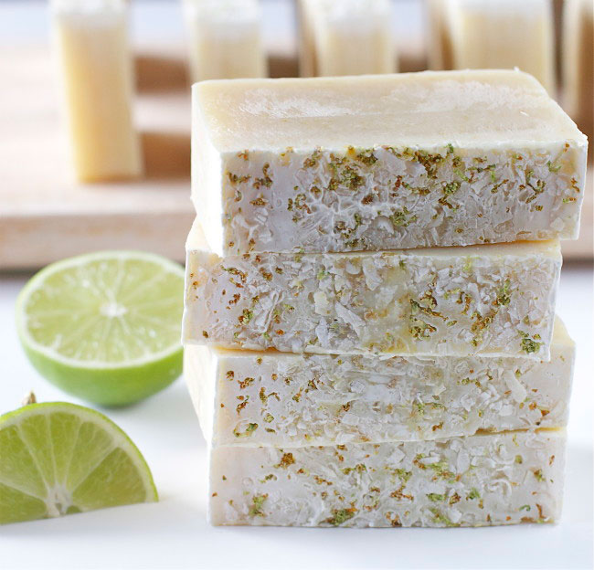 Coconut Lime Soap tutorial