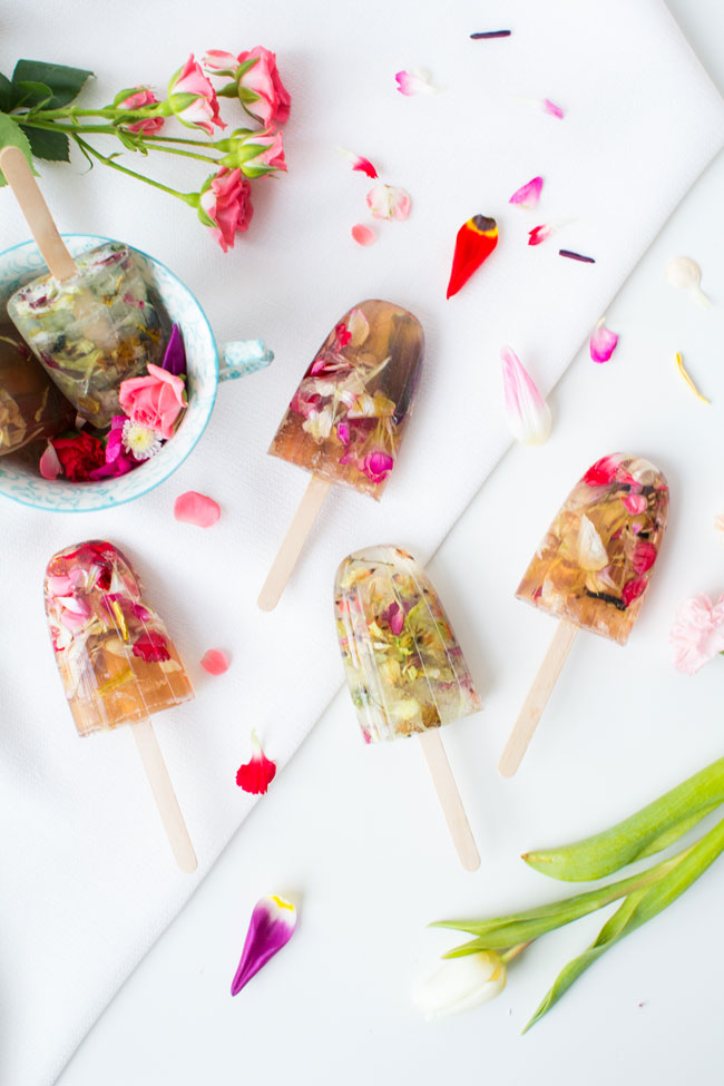 Floral soap pops DIY
