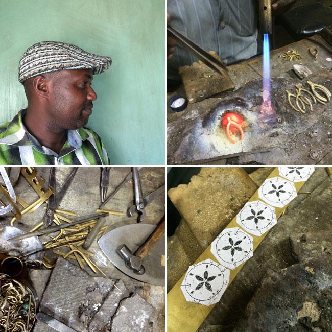 Soul Design brass jewellery making process
