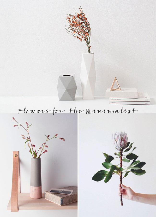 Minimalist flowers