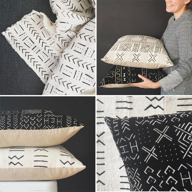 So fine - mud cloth cushions