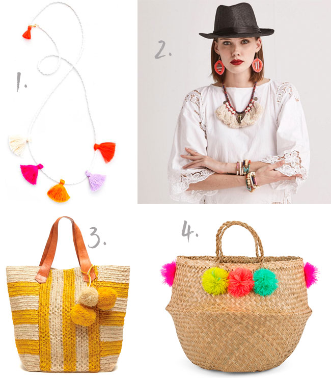 Tassels and pom pom accessories
