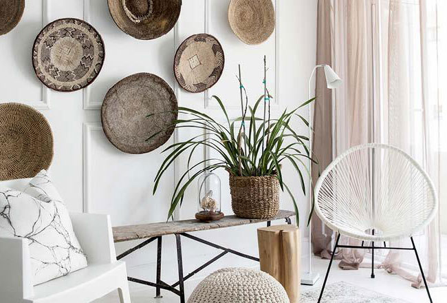 Basket gallery wall ideas