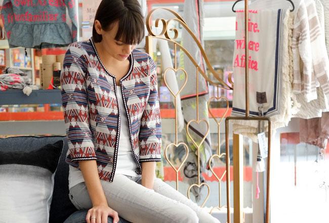Anna Scott jacket at Madison Boutique