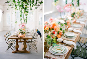Jose Villa-Tropical wedding table setting