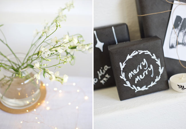 Black and white gift wrap ideas