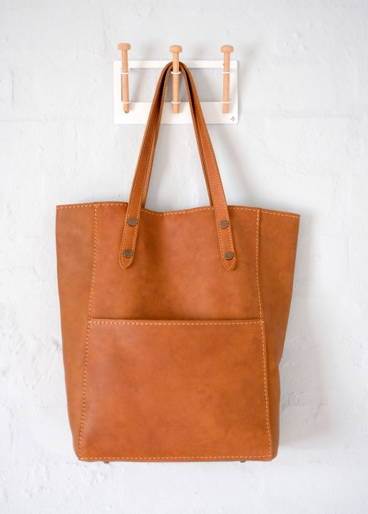 Lynne leather shopper