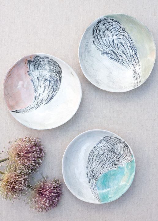 Patterned ceramic bowl