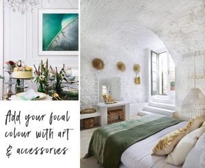 Green decor accents