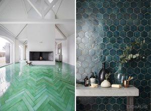 Bold green tiles