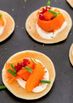 Carrot Lox Blini Recipe
