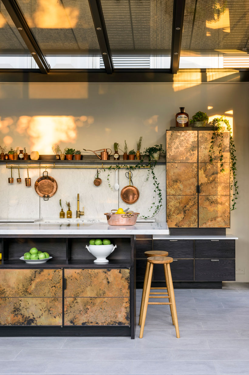 Elemental kitchen - Charlie Smallbone & deVOL at Chelsea Garden Show